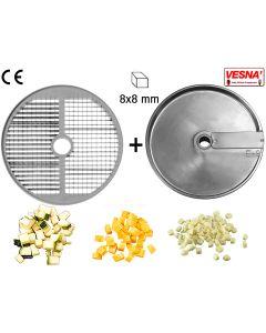 Dischi per cubettare 8x8 mm Ø 250 x tutti Chef 600-800 Celme