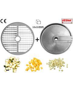 Dischi per cubettare 10x10 mm Ø 250 x tutti Chef 600-800 Celme