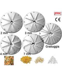 Dischi per sfilacciare da 2 a 7 mm x Chef Pizza Celme Serie Z AK