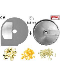 Dischi per cubettare 8x8 mm Ø 250 x tutti Chef 300-400 Celme