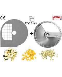 Dischi per cubettare 12x12 mm Ø 250 x tutti Chef  300-400 Celme
