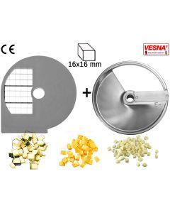 Dischi per cubettare 16x16 mm Ø 250 x tutti Chef 300-400 Celme