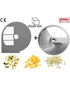 Dischi per cubettare 20x20 mm Ø 250 x tutti Chef  300-400 Celme