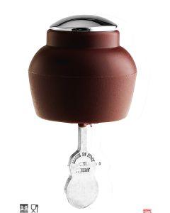 Tappo vino versa e chiude automaticamente in PVC bordeaux Pintinox
