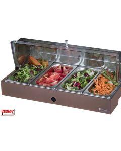Vassoio refrigerato porta verdure con base colore Caffè Pinti Caleido