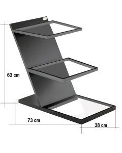 Struttura senza bacinelle alzata in legno MDF 3 piani per Buffet