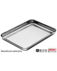 Bacinella pasticceria inox 18/10 cm 25x18xh2 spessore mm 0,6