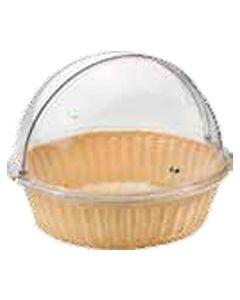 Cesta Pane paglia rotonda con cupola 48x38,5 cm Buffet Pinti