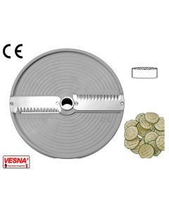Disco per fette ondulate taglio 4 mm x tutti Chef Ø 205 Celme