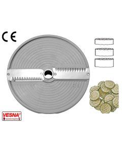Dischi per fette ondulate spessore taglio da 3 mm a 6 mm x Chef Ø 205 Celme