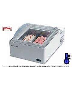 Conservatore per gelato da banco-temperatura C°-10°/-25° mm 475x716x394