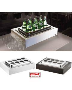 Porta bottiglie refrigerate con 8 spazi da Ø cm 10 Bianco o Wenge