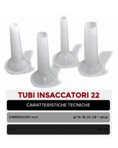Tubi insaccatori per tritacarne Celme MEM 12 ø da 14 a 29 mm + elica