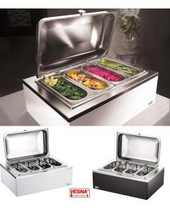 Porta verdure 4 scomparti riscaldato Bianco o Wengè
